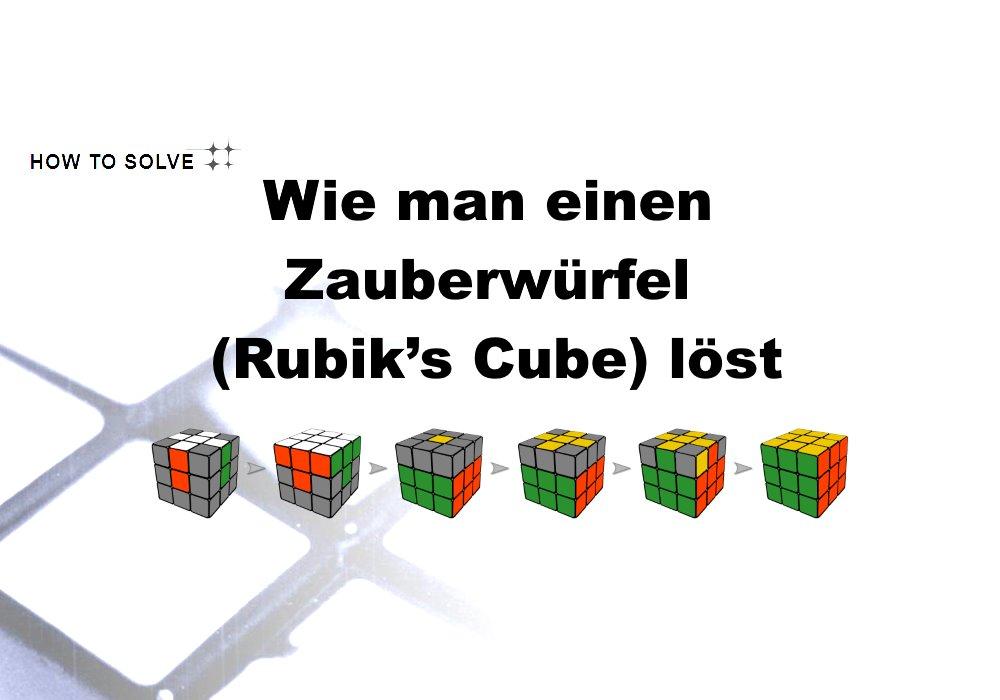 Rubiks Cube Anleitung